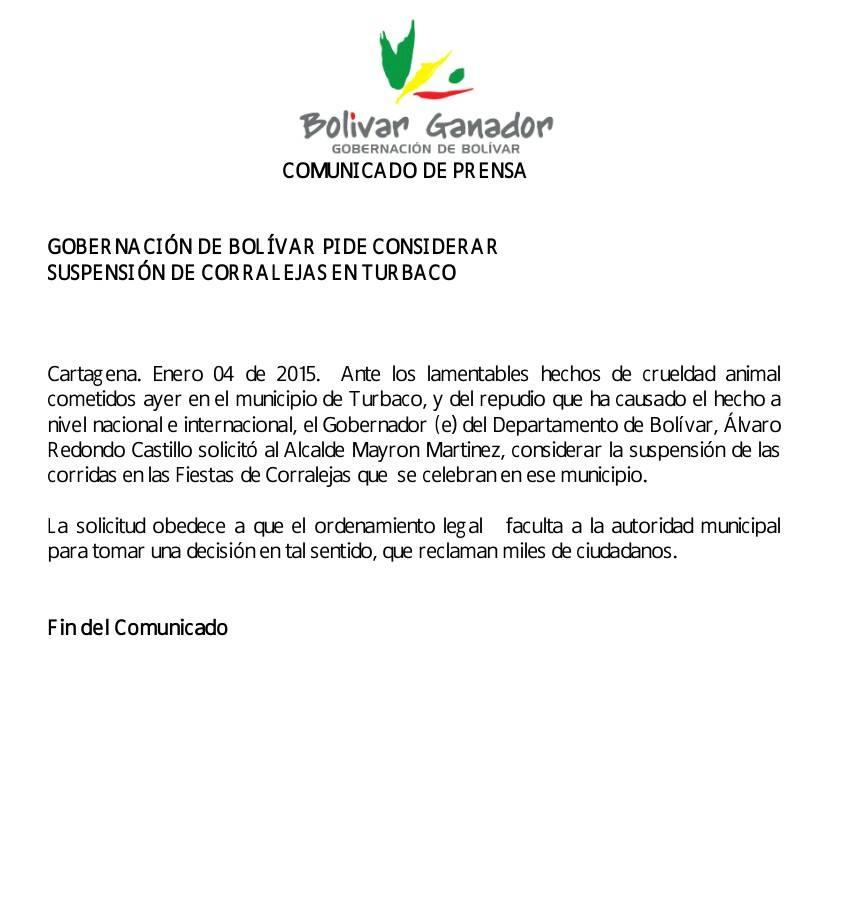 Gobernacion Bolivar 2014
